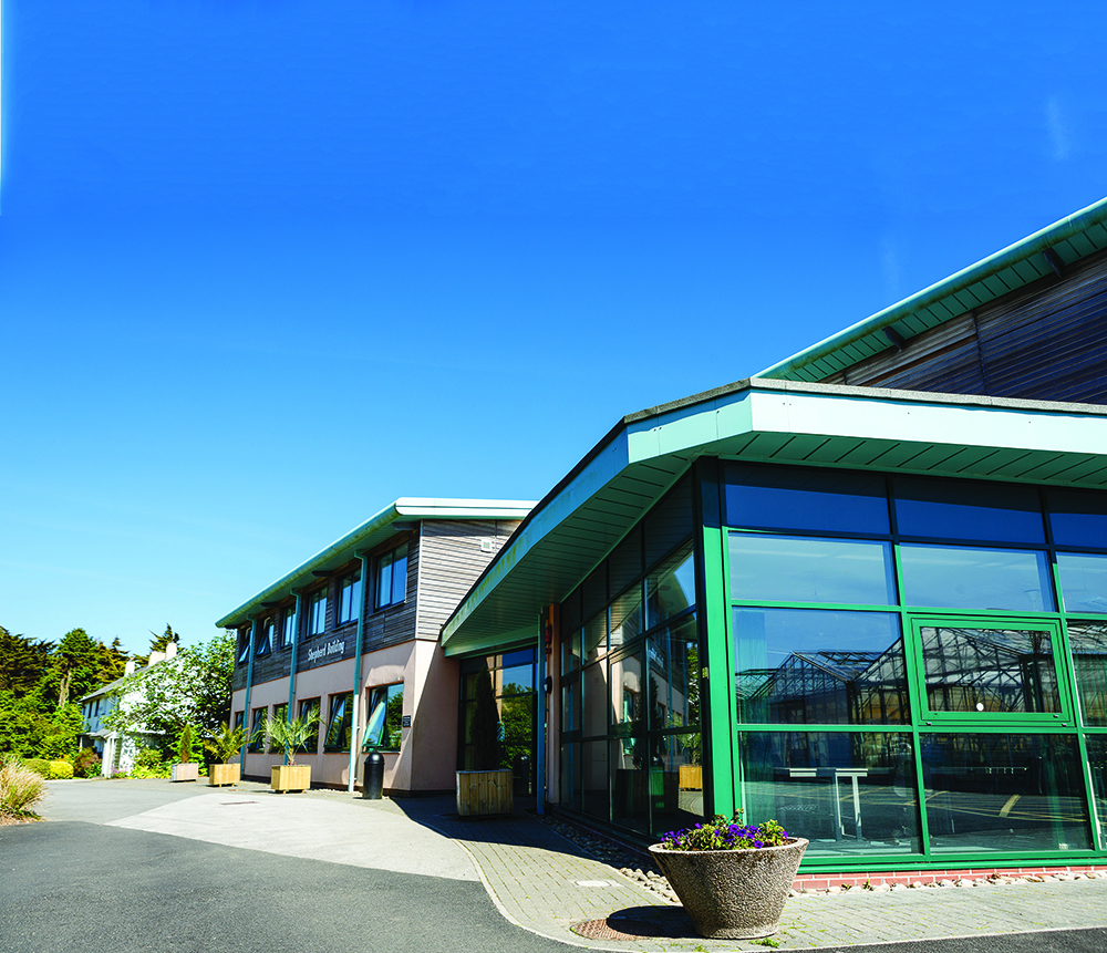 An image of Duchy College Rosewarne Shepherd building on a sunny day.